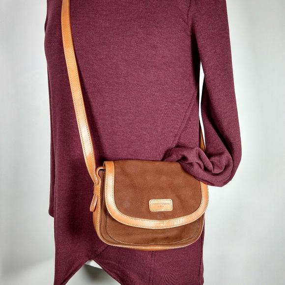 Vintage Courreges Paris Tan Leather Shoulder Bag